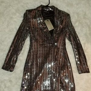 Sequins blazer dress
